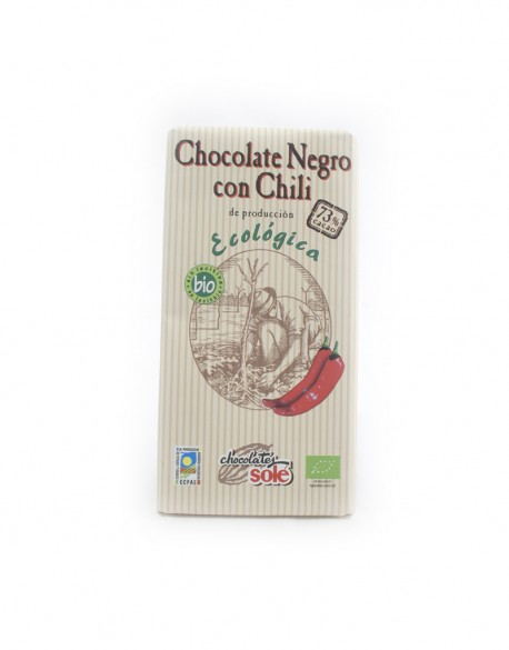 Chocolate negro con chile