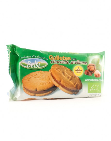 Galletas con chocolate y avellanas