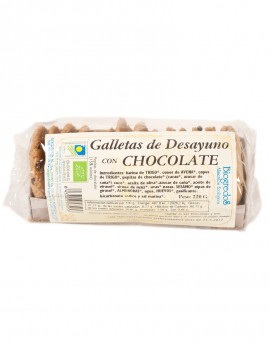 Galletas ecológicas con chocolate